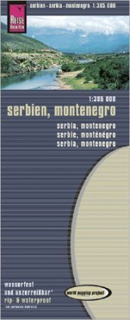 Szerbia, Montenegró térkép - Reise Know-How
