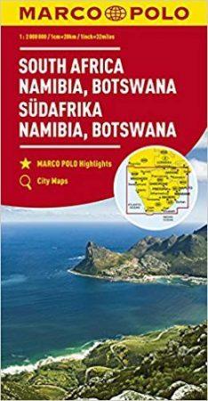 Dél-Afrika, Namíbia, Botswana térkép - Marco Polo
