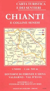 Chianti and the Hills around Siena térkép (No 522) - Multigraphic