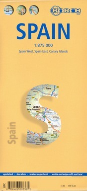 Spanyolország térkép - Borch
