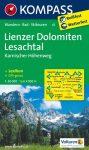 Lienzi-Dolomitok, Lesachtal turistatérkép (WK 47) - Kompass