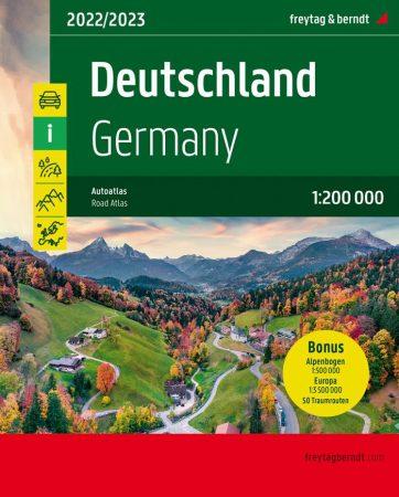 Germany, Austria & Switzerland, road atlas - Freytag-Berndt