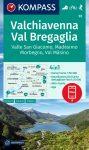 Chiavenna, Val Bregaglia turistatérkép (WK 92) - Kompass