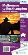 Melbourne to Rockhampton (Leichhardt Highway) Hema City to City Road Maps - térkép