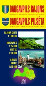 Daugavpils és környéke térkép - Jana Seta