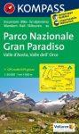 Gran Paradiso Nemzeti Park turistatérkép (WK 86) - Kompass