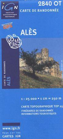 Alès - IGN 2840OT