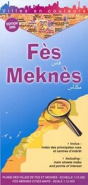 Fes & Meknes térkép - Laure Kane