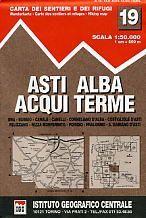 Asti, Alba, Acqui Terme térkép - IGC
