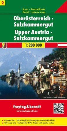 Felső-Ausztria, Salzkammergut autótérkép - Freytag-Berndt