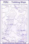 Cordillera Blanca : Quebrada Honda - Santa Cruz térkép - SAEC