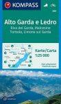 Alto Garda, Ledro turistatérkép (WK 690) - Kompass