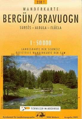 Bergün turistatérkép (T 258) - Landestopographie