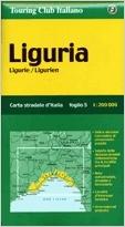 Liguria autótérkép - TCI