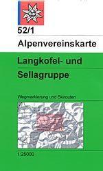 Langkofel- und Sellagruppe - Alpenvereinskarte 52/1