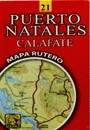 Puerto Natales - Calafate térkép - JLM Mapas