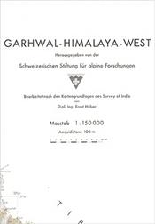 Garhwal Himalaya West térkép - SSAF