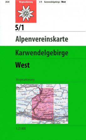 Karwendelgebirge, West - Alpenvereinstkarte 5/1