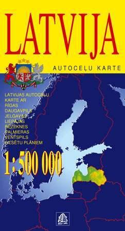 Lettország térkép - Jana Seta