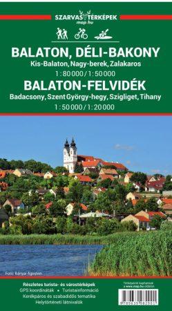 Balaton és környéke, Balaton-felvidék térkép - Szarvas & Faragó