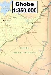 Chobe térkép - Botswana Survey