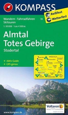 Almtal, Stodertal, Totes Gebirge turistatérkép (WK 19) - Kompass