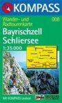 Bayrischzell, Schliersee turistatérkép (WK 008) - Kompass