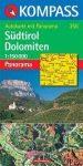 Dél-Tirol / Dolomitok panorámatérkép - Kompass AK 356
