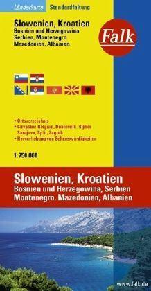 Szlovénia és Horvátország autótérkép - Falk