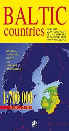 Balti államok térkép - Jana Seta