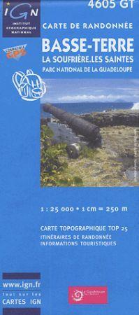 Basse-Terre, La Soufrière, Les Saintes, Parc National de la Guadeloupe turistatérkép (4605 GT) - IGN Top 25