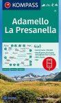 Adamello & La Presanella, hiking map (WK 71) - Kompass