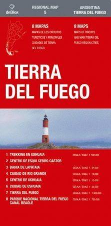 Tierra del Fuego térkép (No5.) - de Dios Editores