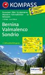 Bernina, Valmalenco, Sondrio turistatérkép (WK 93) - Kompass