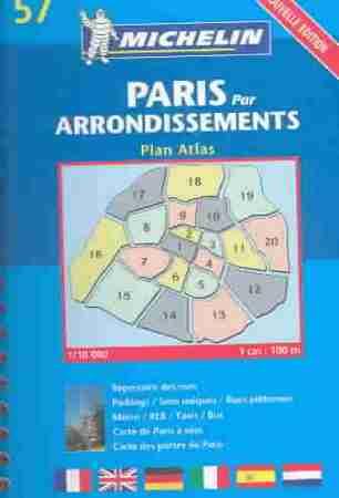 Párizs kis atlasz - Michelin 57