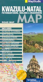 Kwa-Zulu Natal térkép - Map Studio