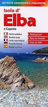 Elba-sziget vízhatlan térkép - De Agostini