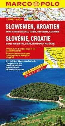 Szlovénia, Horvátország, Bosznia, Szerbia, Montenegró, Macedónia térkép - Marco Polo