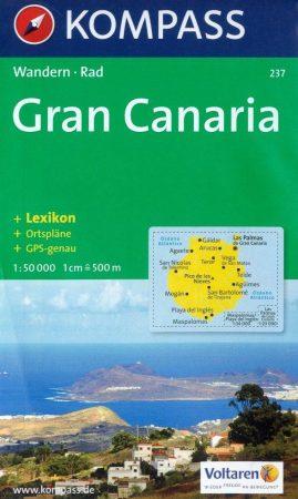 Gran Canaria turistatérkép (WK 237) - Kompass