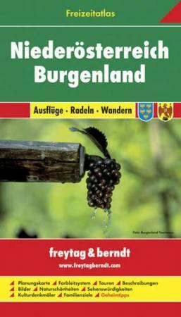 Alsó-Ausztia, Burgenland szabadidőatlasz - Freytag-Berndt