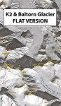 K2 & Baltoro Glacier - (flat version) műholdtérkép - PZA