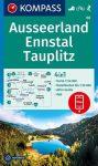 Ausseerland, Ennstal, Tauplitz turistatérkép (WK 68) - Kompass