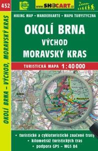 Brno környéke (kelet), Morva-karszt turistatérkép (452) - SHOCart