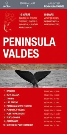 Peninsula Valdes térkép (No3.) - de Dios Editores