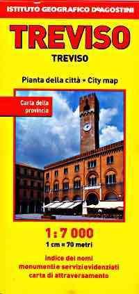Treviso térkép - De Agostini