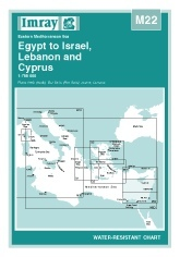 Egypt to Israel, Lebanon and Cyprus Chart M22 - Imray