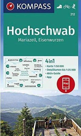 Hochschwab turistatérkép (WK 212) - Kompass