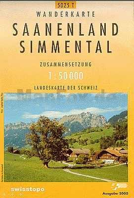 Saanenland / Simmental - Landestopographie 5025T