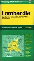 Lombardia autótérkép - TCI