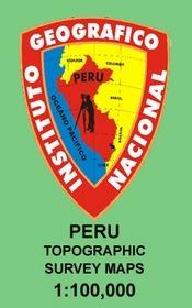Huari térkép (19I) - IGN (Peru Survey)